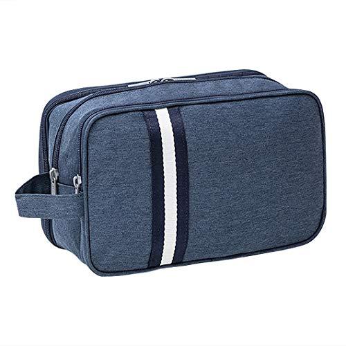 iSuperb Beauty Case Borsetta da Viaggio Astuccio Trousse Borsa da Toilette con Manico Wash Bag Viaggio (Blu scuro)