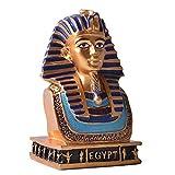 ZYBZYH TutankamóN Busto MáScara de Oro Escultura RéPlica Egipcia Decorativa Estatua Sala de Estar Adornos
