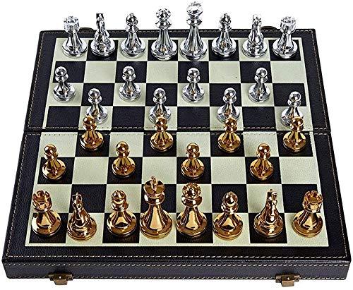 NIUZIMU Ajedrez para Tablero Harry Potter Juegos Conjunto de ajedrez Plegable de Metal, Conjunto de Juegos de ajedrez estándar, Regalo para Amantes del ajedrez Internacional/Principiante y Aprendiz