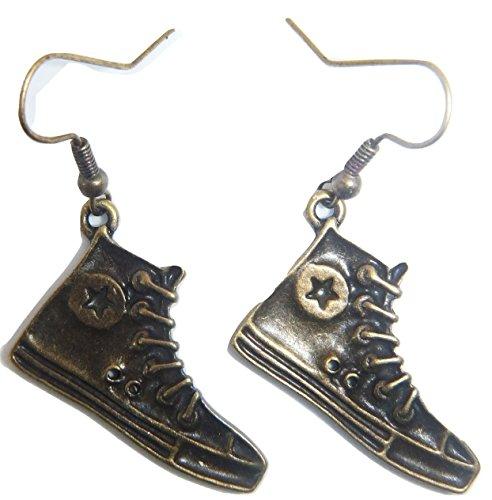 Royal Swan - Pendientes para zapatos con ganchos en tono dorado antiguo, con bolsa de organza para regalo para el día de la madre, San Valentín, Navidad, cumpleaños