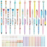 60pcs Mechanical Pencils Set 30pieces Cute Cartoon Mechanical Pencils Automatic Mechanical Pencil with 30 tube Lead Refills For School Office Writing Drawing (60)