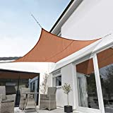 Kookaburra Toldo Vela Terracota Impermeable 160g/m² Poliéster Protección Solar 98% Anti UV para Exteriores, Patios, Jardines, Terraza, Balcón (Cuadrado 2,0m)