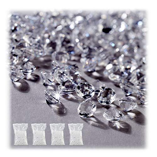 Relaxdays 40.000 x Dekodiamanten, Tischdeko Hochzeit, Dekosteine Diamanten, Kunststoff, Deko Glitzersteine 6 x 4 mm,...