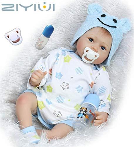 ZIYIUI 22 zoll 55CM schlafend Reborn Babys Junge Silikon Vinyl Puppen lebensecht Doll Boy Günstig Spielzeug