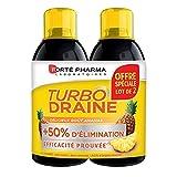 Forté Pharma - TurboDraine Ananas   Complément Alimentaire à base de thé vert - Elimination et drainage   Lot de 2 x 500 ml