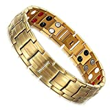 University Trendz 18K Gold Plated Titanium Health Care Therapy Bio Energy Bracelet