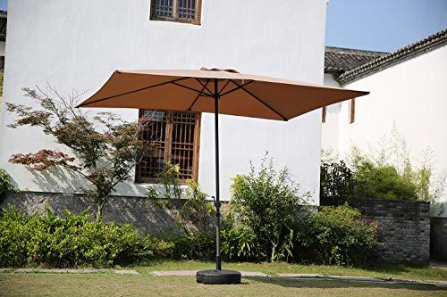 Angel Living Parasol de Jardín 2x3M Paraguas de Aluminio con ...