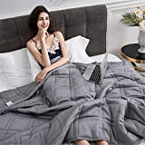 TINE Weighted Blanket Gewichtsdecke Therapiedecke I Besser Schlafen, Schwere Decke Als Einschlafhilfe Erwachsene Kinder I Gewichtete Decke Bettdecke 60 * 80Inch,48 * 60inch 7 pounds