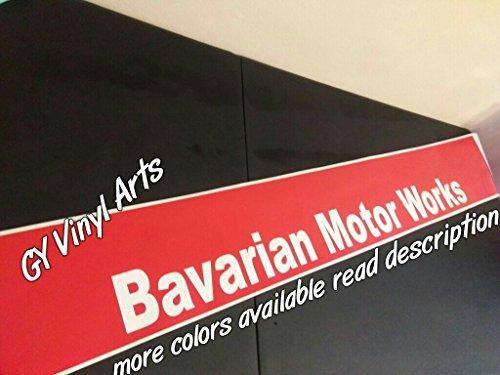 SUPERSTICKI® BMW Bavarian Motor Works Windshield Sun Visor Strip Sun Shade Banners Aufkleber Decal Hintergrund/Maße in inch s Cars Stickers Graphics