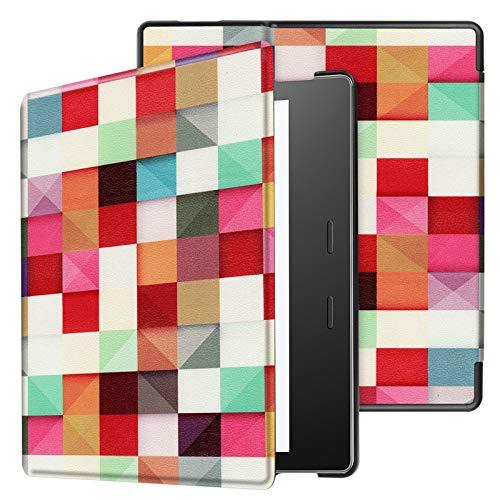 Lobwerk - Funda para Amazon Kindle Oasis 2019 con Funda Smart Cover de 7 Pulgadas con función Atril y función de Encendido y Apagado automático Naranja 01