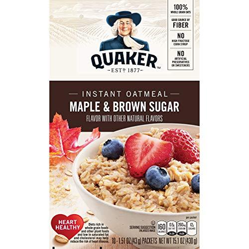 Quaker Instant Oatmeal Maple Brown Sugar 10 Ct