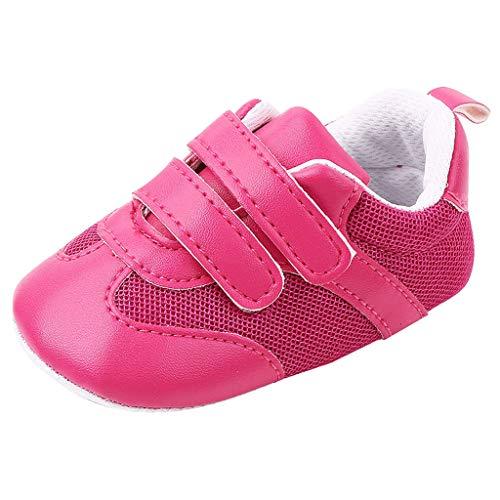 HDUFGJ Baby Jungen Mädchen Weiche Sohle Kleinkindschuhe 0-6 Monate(Pink)