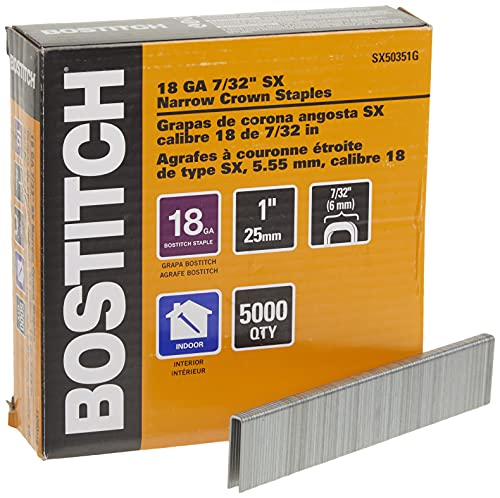of staples order business cards BOSTITCH Crown Staples, Narrow, 1 x 7/32-Inch, 18GA, 5000-Pack (SX50351G)