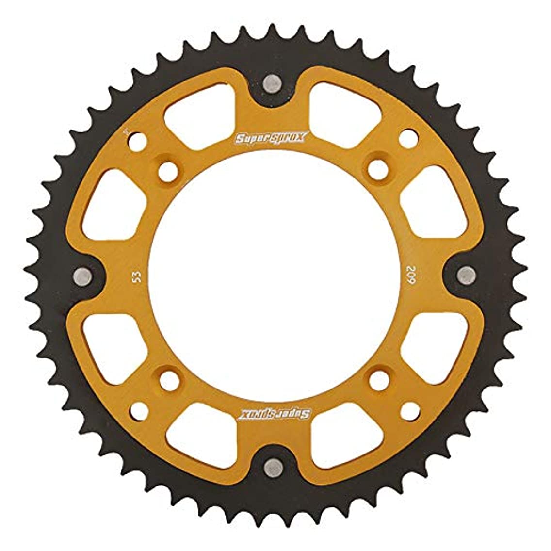 SuperSprox RST-209-53-GLD Gold Stealth Sprocket