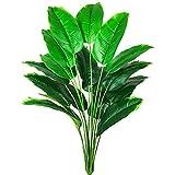 AIVORIUY Planta de Decoración Artificial de Palma Árbol Realista Palmera Tropical Plantas Artificiales Bananera Hojas de Ave del Paraíso, Arbusto Selva Verde para Macetas Exterior Interior Hogar