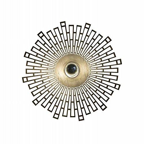 YLXB Creatieve mode persoonlijkheid geleide slaapkamer bedlampje Nordic woonkamer moderne minimalistische zon wandlamp, A, 40 cm