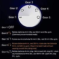 自動巻き時計ワインダー ボックス 6 LED ライト ソフト柔軟な時計枕静かなモーター AC アダプターとバッテリー駆動 Good Life