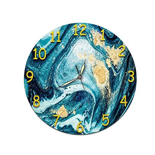LUOYLYM Reloj De Regalo Reloj De Pared Acrílico Mudo Movimiento Reloj Etiqueta De La Pared Reloj Despertador Sin Bordes L181218-d012 (Luminous Pointer) 28cm