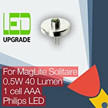 MagLite Solitaire LED Conversion/Upgrade Bulb for MagLite Solitaire Torch/Flashlight 1AAA Cell Philips LED