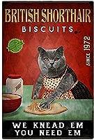 レトロおかしい金属錫サイン12x 16インチ(30 * 40 cm)子猫 ブリキ看板警告通知パブクラブカフェホームレストラン壁の装飾アートサインポスター(gs-1-123)