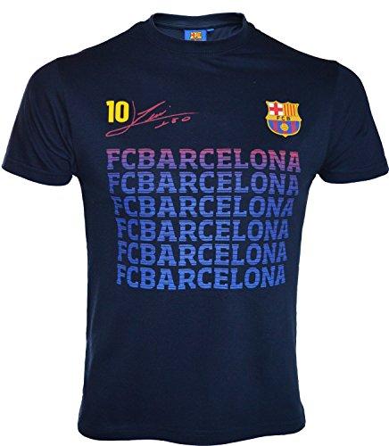 Fc Barcelone T-Shirt Barça - Lionel Messi - Collection Officielle Taille Enfant garçon 8 Ans