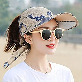 ZXY-NAN Summer Women Brim Widening Empty Top Visor Hats Adjustable Letter Embroidery Sports Style Female Sunshade Caps Bic...