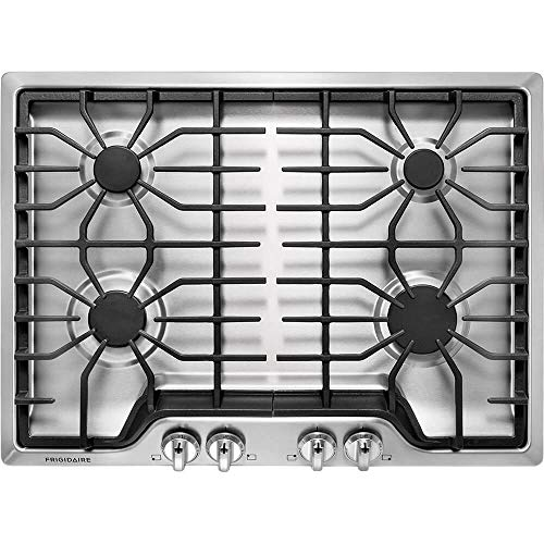 """Frigidaire FFGC3026SS 30"""" Gas Sealed Burner Style Cooktop with 4 Burners, ADA Compliant in Stainless Steel"""