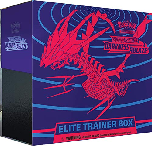 Pokémon TCG: Sword & Shield Darkness Ablaze Elite Trainer Box, Multicolor