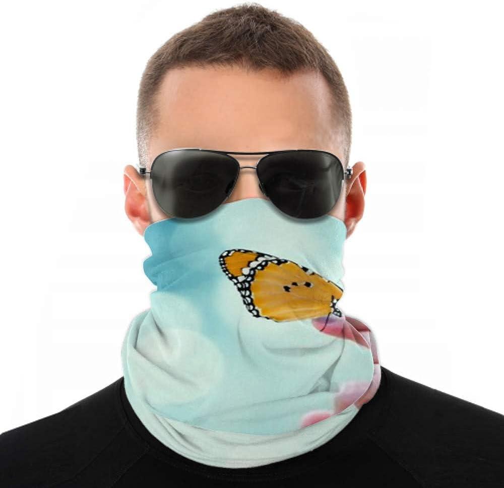 Headbands For Men Women Neck Gaiter, Face Mask, Headband, Scarf Beautiful Butterfly Sitting On Hand Turban Multi Scarf Double Sided Print Turban Headband For Sport Outdoor