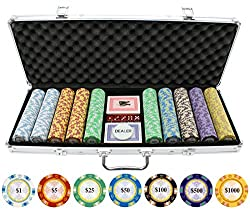 top rated Monte Carlo Clay Poker Chips 500 JP Commerce 2021