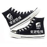 jiushice Tokyo Ghoulanime - Zapatos de lona unisex para adulto, con cordones, botines informales, zapatos deportivos para gimnasio, color, talla 39 EU