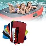 Smilerr - Lote de 4 juegos de pegamento para reparación de kayak, parches de reparación de Radeau hinchable para piscina, pecho, barco, canoa, kayak, juguetes, colchones neumáticos