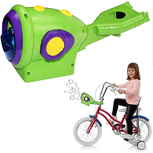 Bike Bubble Machine,Scooter Bubble Machine, Kids Bubble Machine Toys for Parties, Camping, Outdoor Activities Great Gift. (Green)