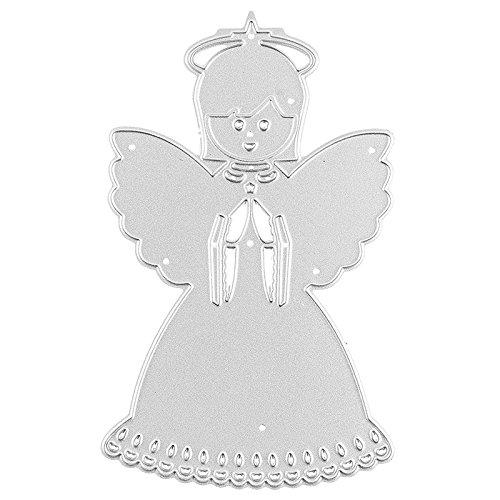 Stanzschablone, Engel, 10,3cm x 6,1cm, passend für gängige Stanzmaschinen | Schablone zum Gestalten von Geschenkanhängern, Grußkartenauflegern | Schutzengel, Weihnachten, Advent