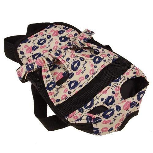 Mochila Portable Para Perros, mochila Ajustable, Bolso De Viaje Con Cremallera Y Diseño En El Pecho Small Lips patroon