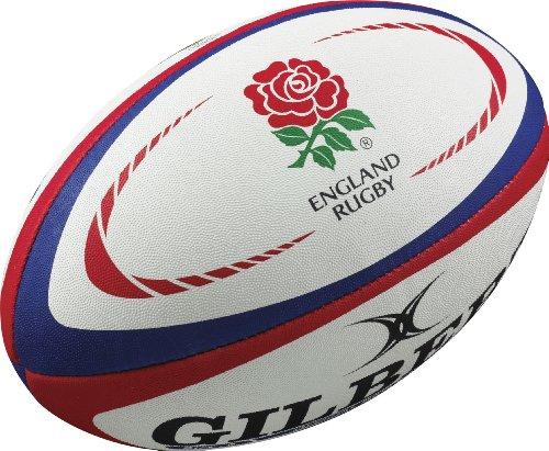 Gilbert England International Replica Rugby Ball, Weiãÿ, 4