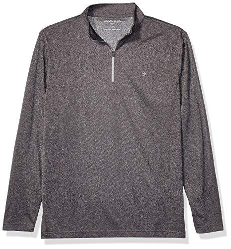 Calvin Klein Herren Harlem TECH 1/4 Zip Golf-T-Shirt, grau, Groß