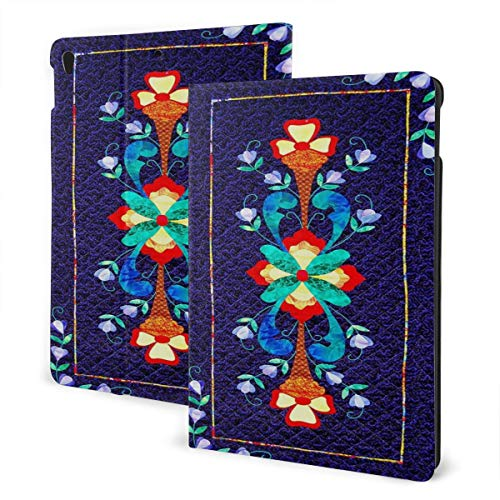 Norwegian Traditional Pattern Fit Generation Ipad 10.2 Case - Slim Lightweight Smart Shell Stand Cover with Translucent Frosted Back Protector
