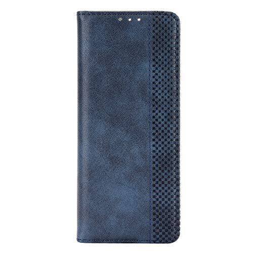 Timagebreze para Galaxy Z Fold2 5G Funda de TeléFono para Galaxy Z Fold 2 Funda Protectora Sin Hebilla Funda de Cuero Funda con Tapa-Azul