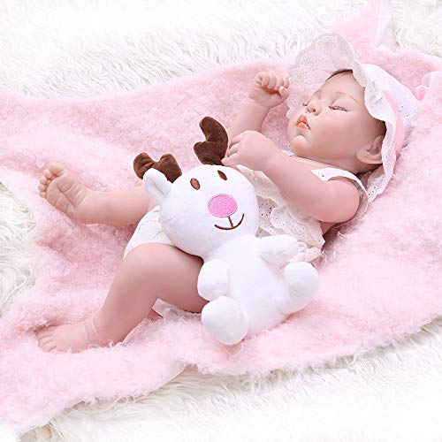 Reborn Baby Dolls Silicone Full Body Sleeping Girl Dolls Real Life 18 inches 45CM Newborn Preemie Waterproof Anatomically Correct Toys for Kids Gift Sets