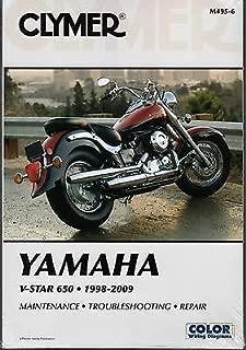 1998-2009 CLYMER YAMAHA MOTORCYCLE V-STAR 650 SERVICE MANUAL M495-6 FREE SHIP