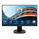 Philips Monitores 223S7EHMB/00 - Monitor de 21.5' (resolución 1920 x 1080 Pixels, tecnología WLED, Contraste 1000:1, 5 ms, HDMI), Color Negro