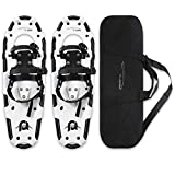 25 Inches Light Weight Snowshoes for Women Men Youth Kids, Lightweight Aluminum Alloy Terrain Snow Shoes with Carrying Tote Bag