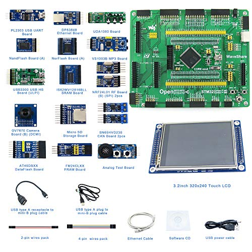 Designed for The STM32F4 Series, Open Source Electronic Hardware STM32 Development Kit, Features The STM32F407ZET6/STM32F407ZGT6 MCU, Cortex-M4 32-Bit RISC, 407Z Mother Board+407Z MCU Core Board.