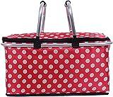 FFTY Cesta de pícnic de gran tamaño, impermeable, con forro plegable para fácil almacenamiento, para acampar, picnicking, viajes al lago
