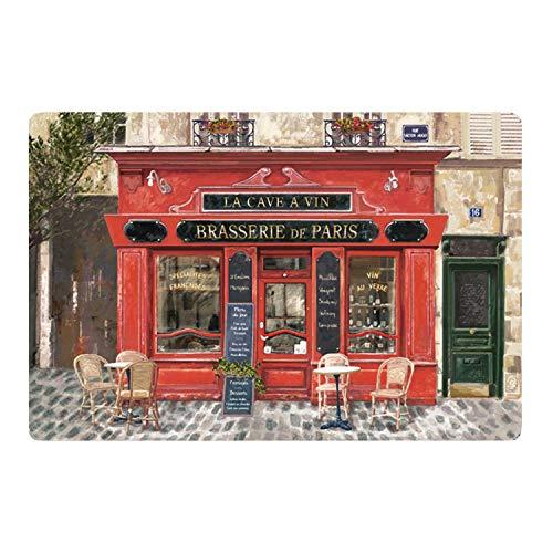 Winkler - Set de table Brasserie de Paris – 45x30 cm – Napperon rectangle – Facile à nettoyer - Dessin vintage
