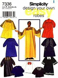 Simplicity 7336 Sewing Pattern Misses Mens Teens Choir Graduation Robe Chest 30 - 48