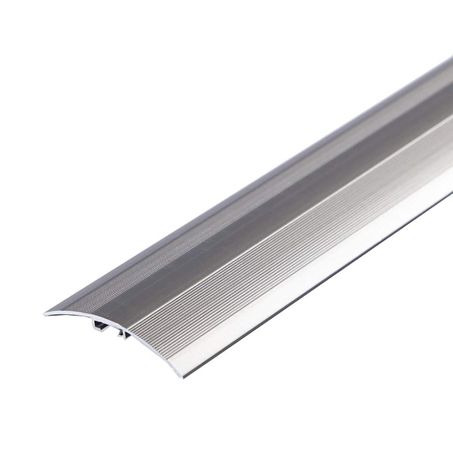 ゲート抹消トランペットしきい値ストリップ 木製の床エッジストリップレイヤリング出入り口のしきい値ドアの縫い目を通すユニバーサルバックルしきい値の石、W4CM (色 : A)