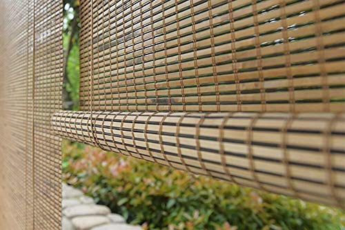 DRAPEDL Persianas venecianas de bambú Montaje Exterior Persianas enrollables for persianas Cortinas enrollables Persianas Elevadoras Fácil de Instalar Montaje Exterior Duradero (Size : 105 * 120cm)