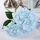 Barley33 5 têtes en Soie Artificielle Hortensia Bouquet de Fleurs pour Le Mariage Bricolage décoration Florale décoration de la Maison